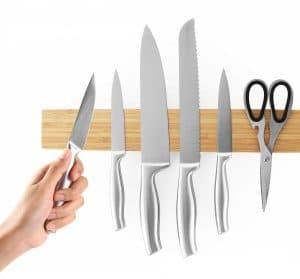 Magnetischer Messerhalter Holz